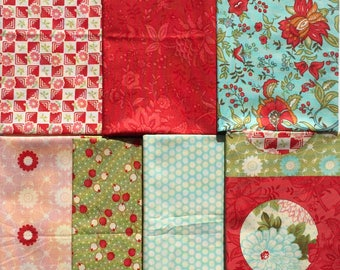 Bliss Bonnie and Camille moda fabrics 7 Quarter Yard set Please Read
