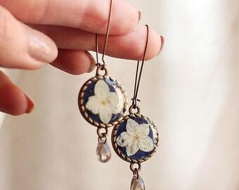 Earrings with Hydrangea