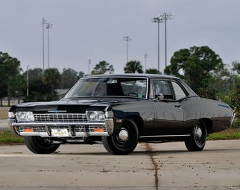 1968 Chevrolet Biscayne black | Poster | 24x36 inches