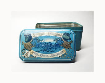 French Vintage Tin Box Musculine Guichon - Complete Concentrated Food