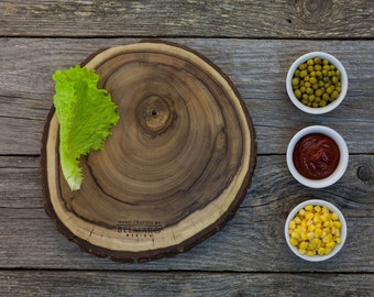 Rustic Wood Cutting Board - Walnut Hand Crafted Cheese Board / Chopping Board /  Kitchen Board / Gift Board / Appetizer Platter CBW001