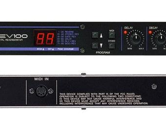 "YAMAHA REV100 Vintage Studio 19"" Reverberator Made in Japan"