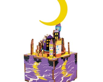 Kids DIY Wooden Craft Kit Music Box - Midsummer Night Dream