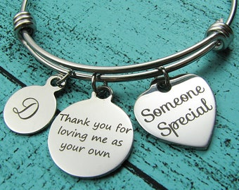someone special bracelet, stepmom of the bride gift, foster mom gift, stepmom gift, thank you gift, adoption bracelet, mentor teacher gift