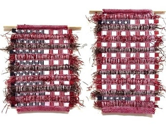 Flags, tapestries, 4th of July, weaving, hand woven, wall art, Independence Day, patriotic, patriotism, America, red, white, blue