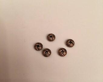 ten copper spacer beads