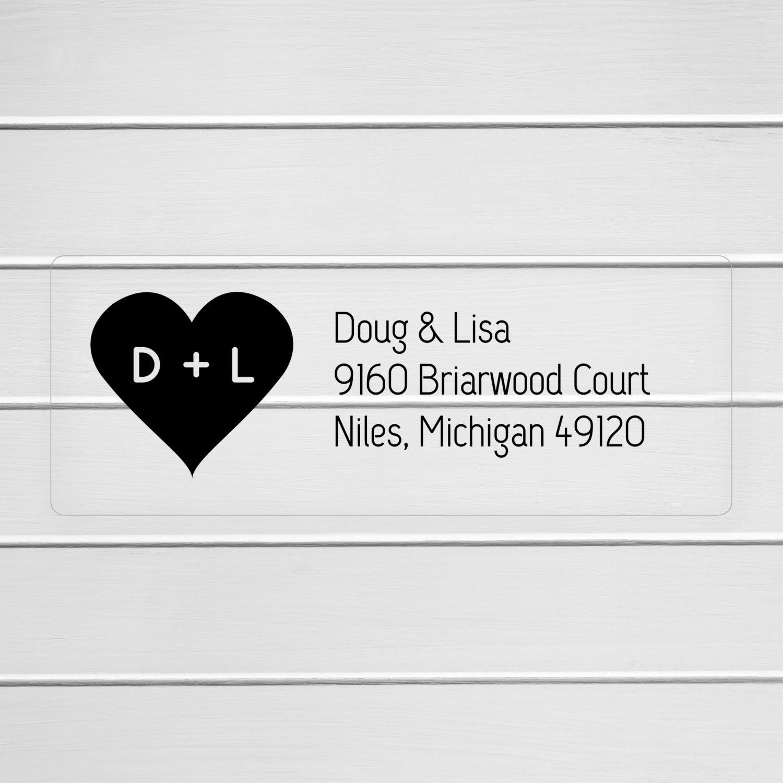 Wedding Invitation Return Address Labels Clear Wedding