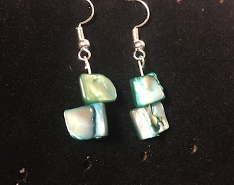 DesignsbyKIKO Green Shell Earrings