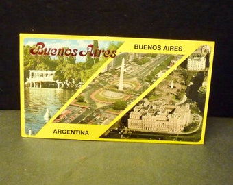 """Buenos Aires Argentina Large Post Card- 3 7/8"""" x 7"""""""