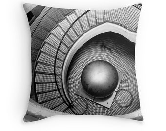 AA/ MC Escher throw pillow cover custom photo cushion cover abstract architecture surreal black and white photography modern art urban city
