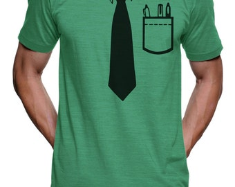 Nerdy Tie T Shirt - Funny Casual Friday Tee Shirt - Mens T Shirt - Womens Graphic Tees - Funny Tshirts - Novelty Gifts Birthday Gift Him