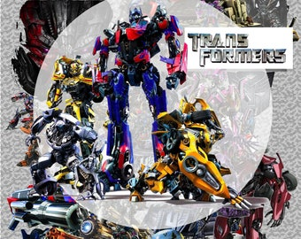 111+.. Transformers ClipArt - Digital , PNG, image, picture,  oil painting, drawing,llustration, art , birthday,handicraft