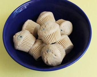 Blueberry Muffin Soap Mini Set - Food Soap, Cupcake Soap, Soap Favors, Party Favors, Blueberry Soap, Fruit Soap, Breakfast Soap, Kids Bath