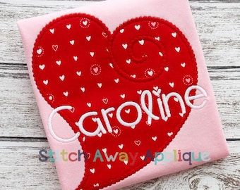 Funky Heart Valentine's Day Machine Applique Design