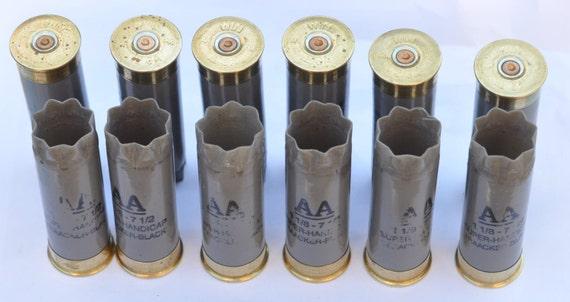 Winchester AA 12 Gauge Shotgun Shell Hulls Gray For Jewelry