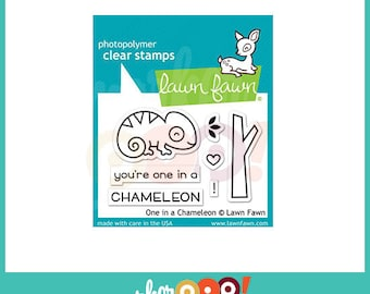 Lawn Fawn Clear Stamp Set - One In A Chameleon