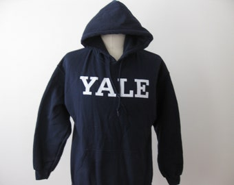 Yale University Bulldogs Hoodie Sweatshirt Adult Large L Mens