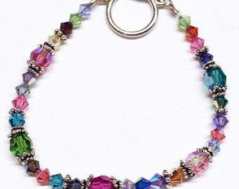 Pasithea...Random! The PERFECT Mother's day Gift! A Genuine AB Swarovski Crystal beaded Bracelet