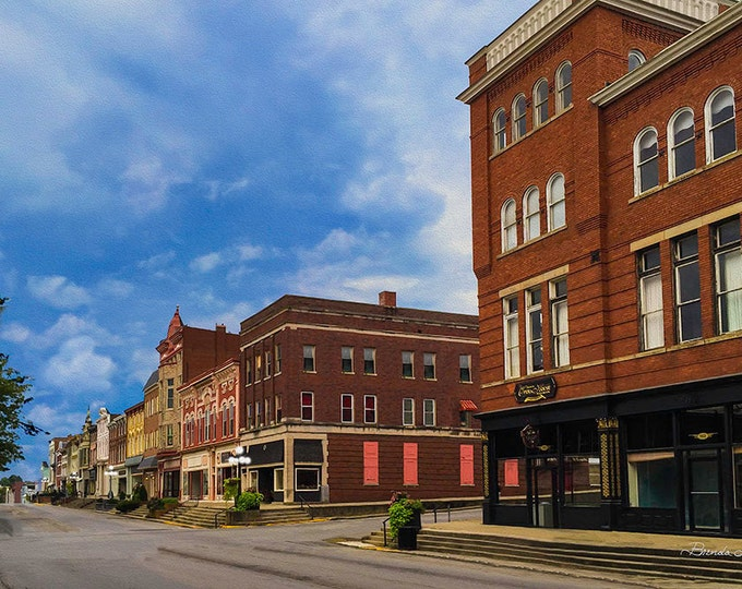 Kentucky, Main & Lexington Ave, Winchester, Print on Paper,Canvas Print, Small Town, Kentucky Small Town,Wall Art,Historical Buildings,
