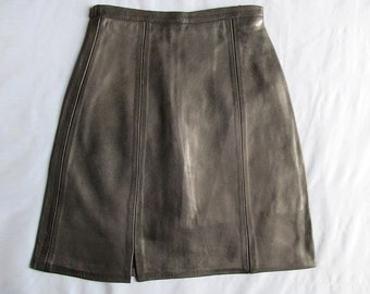 Beautiful Black Italian Leather Skirt Lambskin leather Baby Girls Child Clothing New