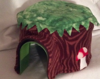 Tree House Fleece Igloo Cover Print Fleece Hedgehog Pocket Pet Home Cover Custom Order Item