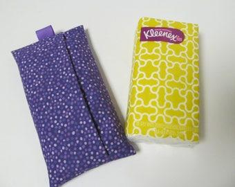 Tissue Case/Purple Dots