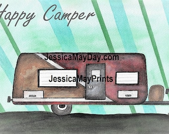 Happy Camper Modern Camper Trailer