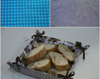 Sewing class in a bag..Pre-cut DIY Sewing Kit ~ Bread Basket...with fully illustrated instructions and step by step video