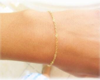 Thin Gold bracelet - Delicate Gold Bracelet - everyday bracelet - simplistic bracelet - dainty gold bracelet - Layer bracelet