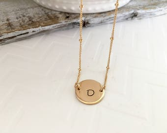 Gold Initial Necklace, Rose Gold Initial Choker, New Mother Necklace, Best Friend Gift, Wedding Jewelry, Personalized Letter Necklace