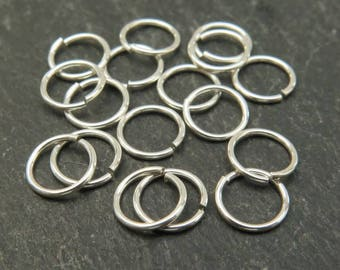 10 pcs Sterling Silver Open Jump Ring 8mm ~ 20ga