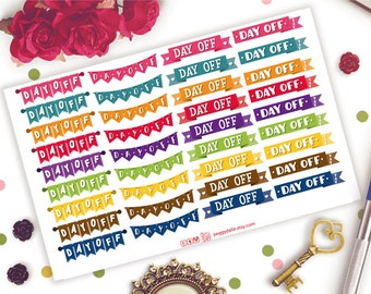 Day Off Planner Stickers    Flags Stickers   Headers Stickers   Banner Planner Stickers   Day Off Stickers   Lazy Day   Headers