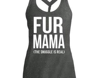 Fur Mama (The Snuggle Is Real) Cosmic Twist Back Tank