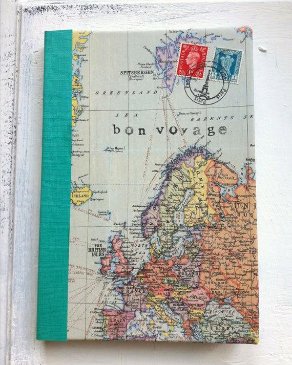 World map travel journal ruled notebook bon voyage journal world map travel journal ruled notebook bon voyage journal europe green turquoise border gumiabroncs Choice Image