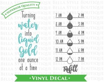 Breastfeeding Liquid Gold Water Intake VINYL DECAL