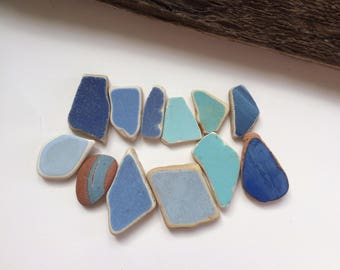 Blue sea pottery lot