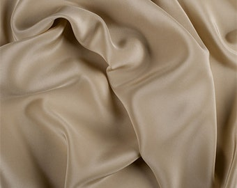 Gold Silk Crepe de Chine, Fabric By The Yard