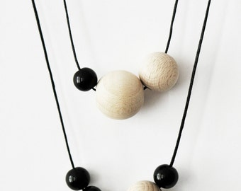 KETTE black and wood