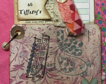 Guest Check book page and sentiments