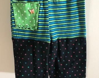 Vibrant Polka Dot Striped Pants (infant 6-9 months)