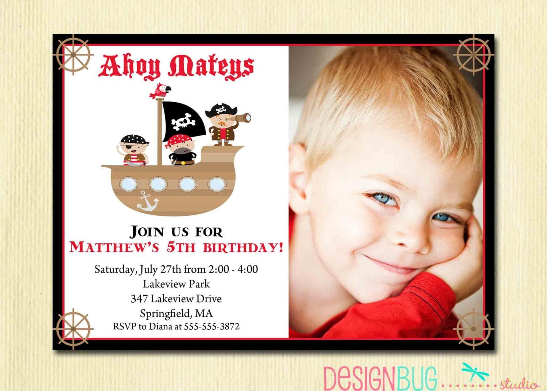 Boys pirate birthday invitation pirate ship ahoy mateys zoom stopboris Gallery
