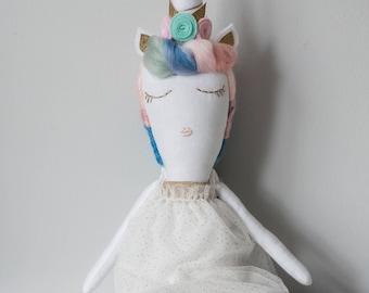 Uma the Unicorn Heirloom Doll