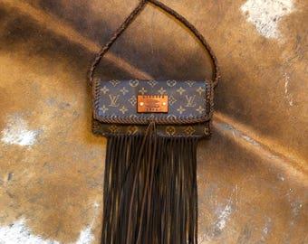 Vintage Swag Fringed Vintage Louis Vuitton Clutch / Crossbody / Shoulder Bag