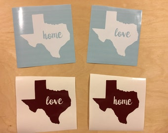 Texas - State Love Decal - Vinyl Decal