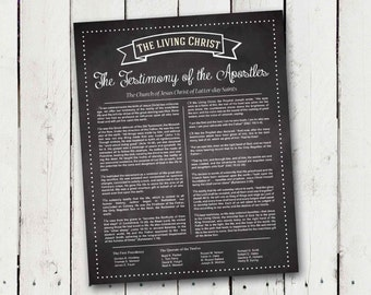 The Living Christ print in Faux Chalkboard - Instant Download