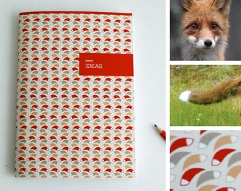 A5 Animal Notebook / Plan / Ideas / Fox / smart / red