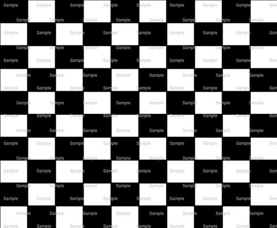 Black & White Checkerboard Birthday - Edible Cake and Cupcake Topper For Birthday's and Parties! - D863