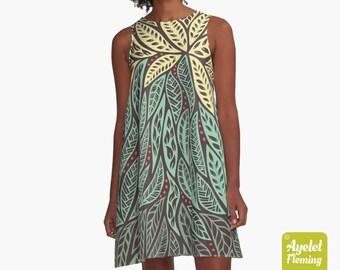 Green Loose Fit Casual Dress, Polynesian Clothing, Mint Green Dress, Summer Dress, Colorful Dress, Hawaiian Dress Women, Hawaiian Themed