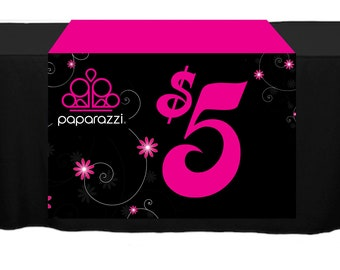 Black Paparazzi Table Runner