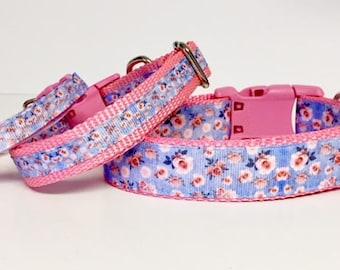 Dog Cat Collar, Flower, Roses, Garden, Spring, Heartbreaker, Designer Dog Accessories, Pet Accessories, Cat Collar, Gift